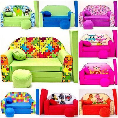 NOUVEAU pour enfants housse de velours de meubles de canapé-lit +POUF et COUSSIN
