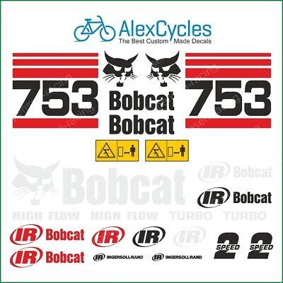 Bobcat Skid Steer 753 Turbo High Flow Vinyl Decals Stickers Original Look Kit