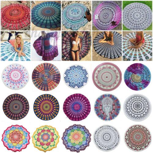 Mandala Hippie Strandtuch Yoga Matte Runde Wandbehang Tapisserie Böhmer Towel