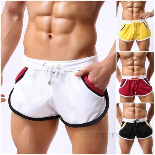 Mens Bodybuilding Running Jogging Sports Shorts GYM ...