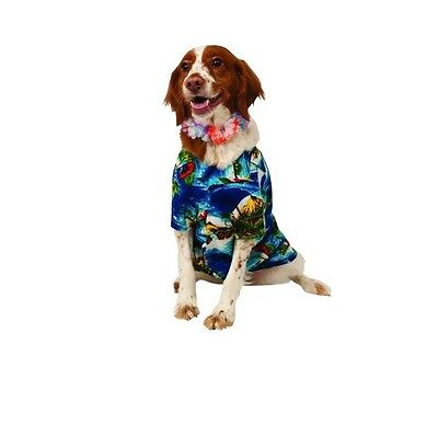 Halloween Pet Photos (Hawaiian Luau shirt for Dogs - S - M - Halloween Costume - take)