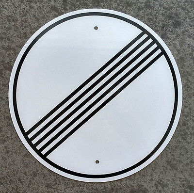 "Autobahn - NO SPEED LIMIT - Sign /  11.5"" ALUMINUM  -  European Highway - Garage"