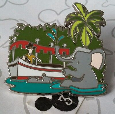 Jungle Cruise Retro Mystery Pin Elephant Disney Happiest Place on Earth DLR