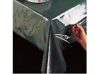 1mt 2mt CLEAR Transparent Tablecloth PVC Table Protector Vinly Wipe Dining Cover KITCHEN