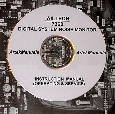 Singer Ailtech 7360 Digital System Noise Monitor Operating Service Manual
