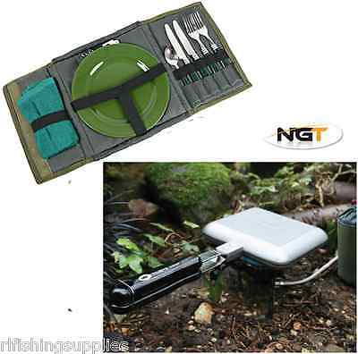 NGT SANDWICH TOASTIE TOASTER MAKER WITH FREE CUTLERY SET CARP FISHING CAMPING
