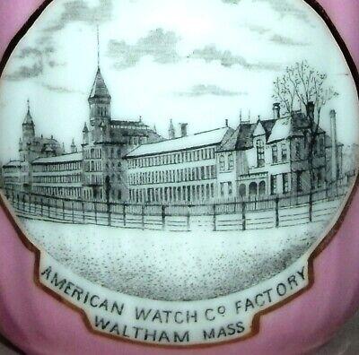 American Watch Company antique cup mug Waltham, MA. watches clocks advertising