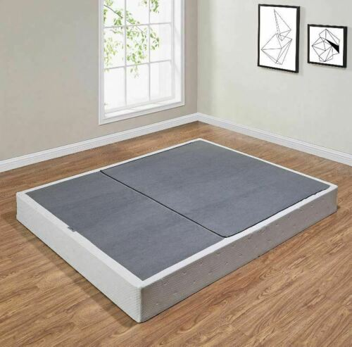 """Folding Metal Box Spring 7.5"""" Bed Mattress Foundation Twin Full Queen King Sizes"""