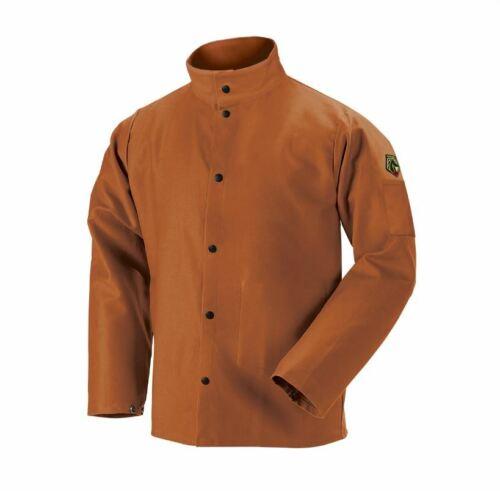"Revco Black Stallion FB2-30C 30"" 12oz Brown FR Welding Jacket Large TruGuard XL"