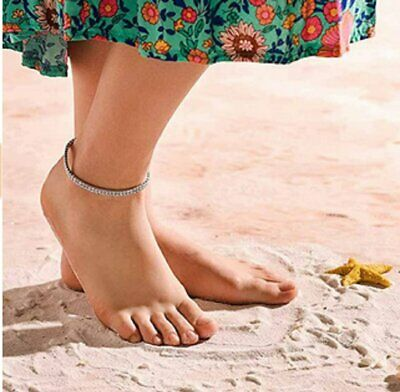 Crystal Diamond Anklets Silver Ankle Bracelet Beach Foot Chain for Women Girls Anklets
