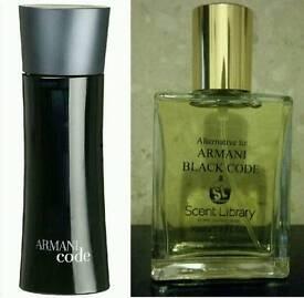 Armani black code for men 30ml