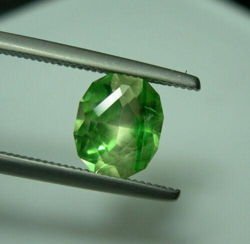 RARE Bi-Color Grossular Garnet gem Leuco Colorless Green Tsavorite FLUORESCENT