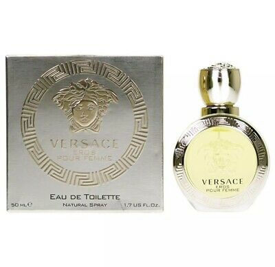 Genuine Sealed Versace Eros Pour Femme 50ml Eau De Toilette EDT Natural Spray