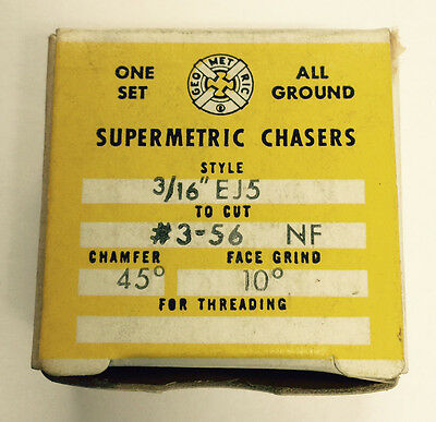 New Supermetric 3-56 Chasers For Geometric 316 Ej5 Die Head
