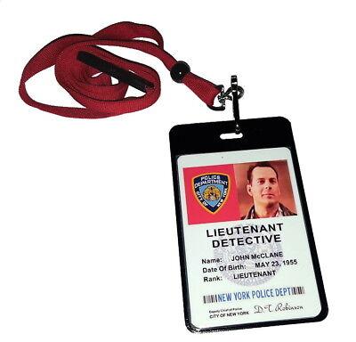 Two Sided John McClane DieHard ID Badge Costume prop Die Hard Movie