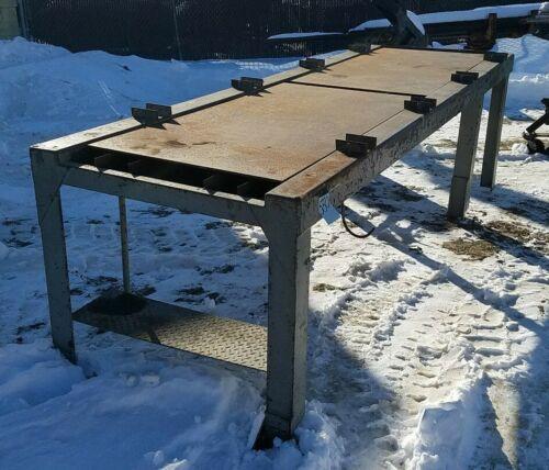 """Heavy Duty Industrial Steel Welding/Work Table 130"""" x 42"""" x 36"""" Tall"""