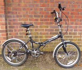 "Black Folding Bike 20"""
