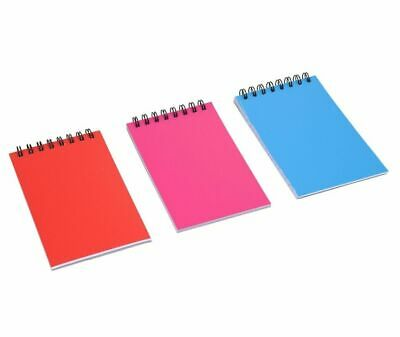 3 X 5 Spiral Bound Notebooks - Blue Red Pink - Three Pack - Lined - 60 Pages