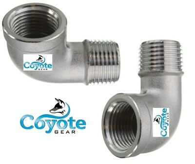 2 Pack Lot 38 Npt 316 Stainless Street 90 Elbow Male X Female Coyote Gear 304