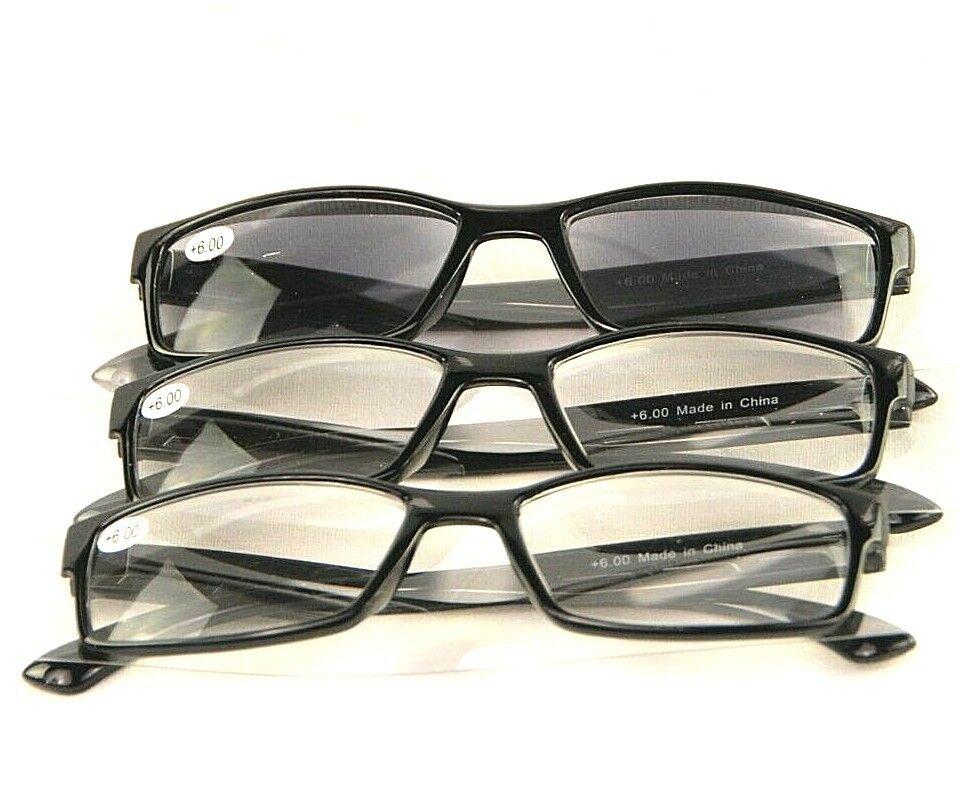 3 Reading Eyeglasses With Sunreader Sunglass Glasses Eye Unisex +3 NEW Glasses Health & Beauty
