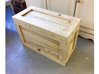 ***Untreated Wooden Blanket Box***£50***FREE DELIVERY***Now Making To Order***