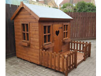 7X6 WOODEN CHILDRENS PLAYHOUSE/WENDY HOUSE TOP QUALITY COTTAGE LAST ONE