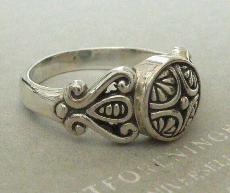 Vintage Sterling Ring Scroll Motif,Size 5, 5.5, 6.5, 7, 7.5, &  8,  Konder #556