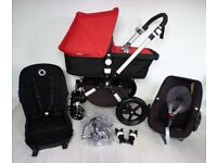 LIKE NEW Bugaboo CAMELEON 3 with Maxi Cosi Pebble and Adapters
