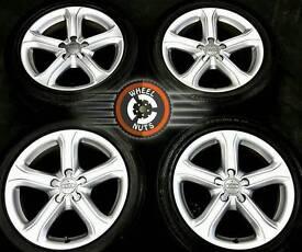 "17"" Genuine Audi A4 Technik alloys, excel condition, premium tyres. CHOICE OF 4 SETS."