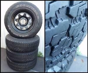 Sunraysia 6 stud with Goodyear Wrangler 4x4 wheels and tyres Parramatta Parramatta Area Preview