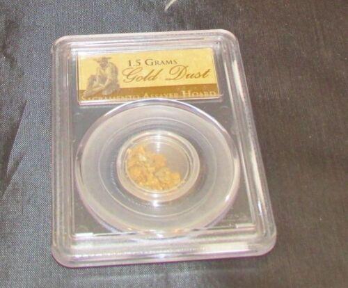 PCGS Sacramento Assayer Hoard 1.5 Grams Gold Dust