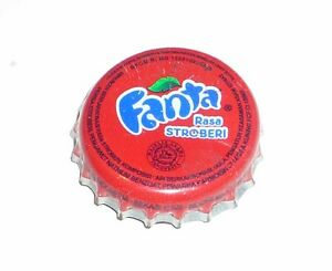 FANTA-STRAWBERRY-Soda-Bottle-Cap-Crown-INDONESIA-Red-11