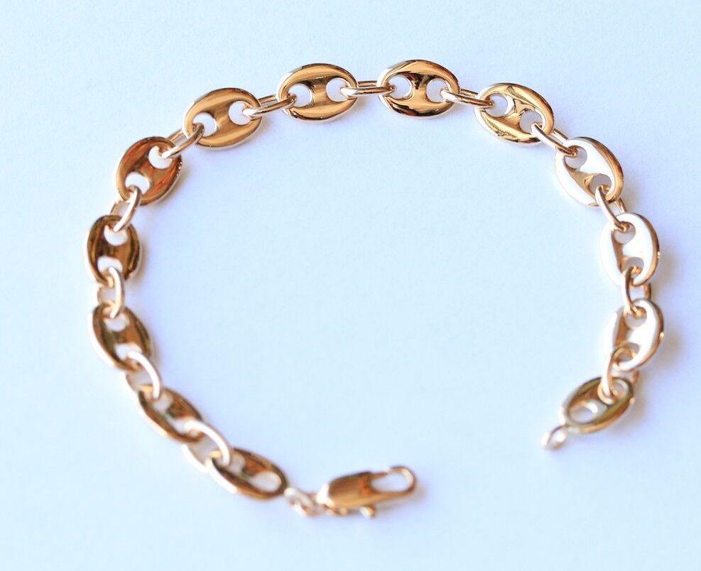 bracelet gourmette luxe grain de caf large pour homme plaqu or v ritable neuf eur 49 00. Black Bedroom Furniture Sets. Home Design Ideas