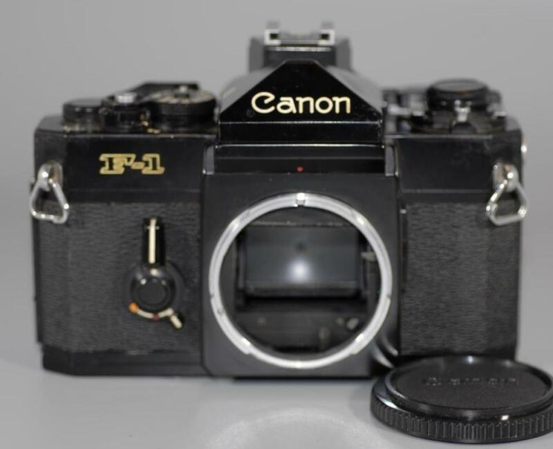 Canon F-1 early classic F1 F1n manual focus camera w Flash Coupler - Nice Ex+!