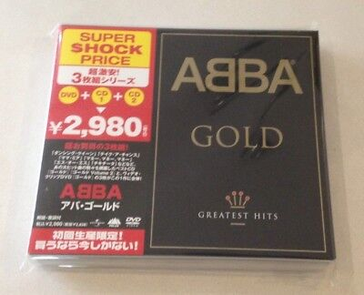 "ABBA ""GOLD: GREATEST HITS"" JAPAN 2CD+DVD UICY-9645 2007 *SEALED*"