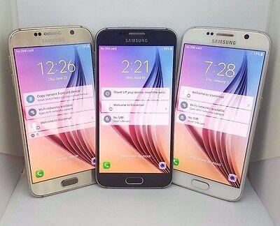 Samsung Galaxy S6  Verizon Unlocked  32Gb Sm G920v Black  Gold  White Lcd Burn