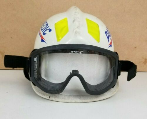 Cairns 360R White Firefighter Helmet Low Profile Rescue w/ Goggles 2007