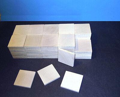 Holzplättchen Plättchen Quadrate 45x45x5mm 50 Stück