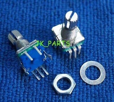 5pcs Rotary Encoder Switch Ec11 Audio Digital Potentiometer 15mm Knurled Shaft