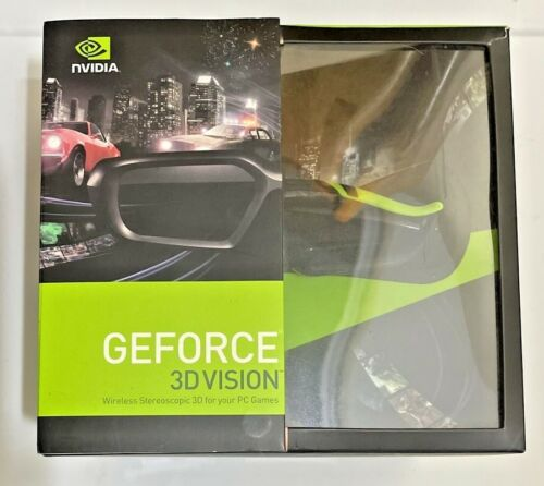 NVIDIA GEFORCE 3D Vision Kit with Wireless NVidia 3D Glasses (NEW)