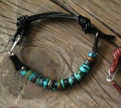 Men's Turquoise & Sterling Silver Cuff Bracelet Dark Brown  Sundance (Sundance For Men)
