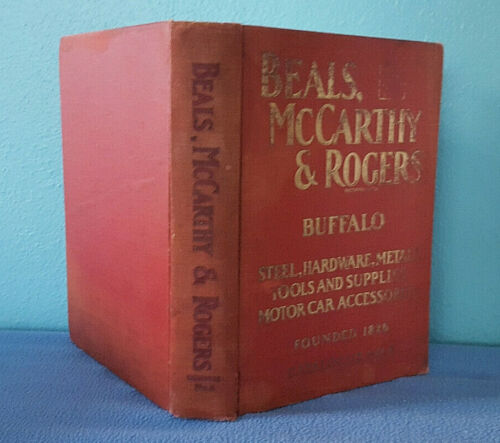 1926 Vintage Beals McCarthy Rogers Tool & Hardware Catalog Buffalo - 824 pages!