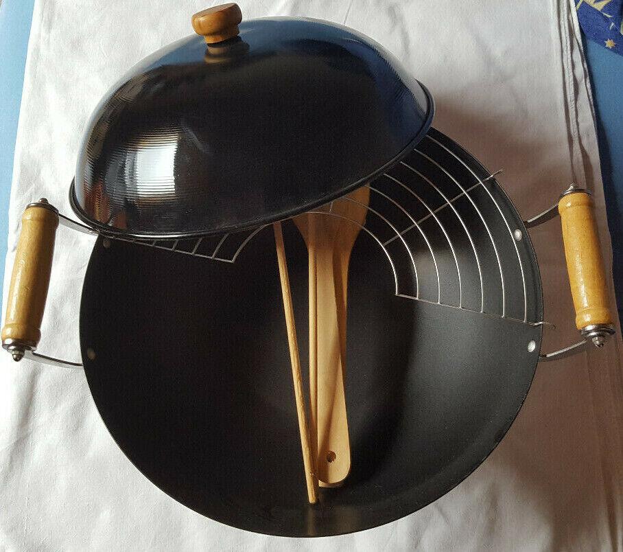 Feuer-Wok Wok Grill Campinggrill Reisegrill Neuwertig Spiritus