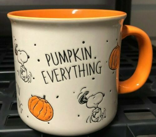 SNOOPY / PEANUTS GANG FALL COFFEE MUG - PUMPKIN EVERYTHING