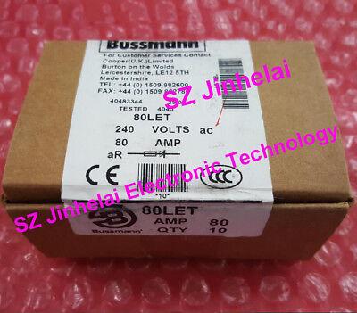 Original 80let Bussmann Bs884 Fuses Cutout 80a 240v A Complete Boxed Is 10pcs