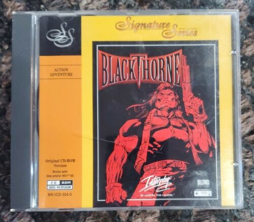 Computer Games - Blackthorne PC CD-ROM Jewel Case *TESTED* Software Computer Video Game