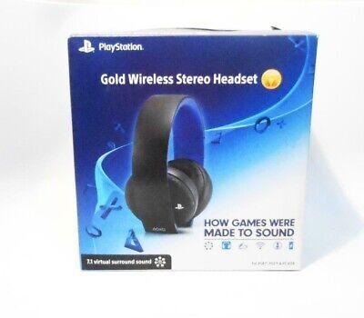 PlayStation Gold Wireless Stereo Headset - Jet Black 7.1 Virtual Surround