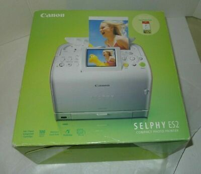 Canon SELPHY ES2 Digital 4x6 Photo Compact Desktop USB Thermal Printer Compact Photo Printer Usb