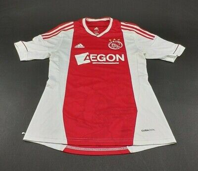 Ajax Jersey 2010 2011 Home Shirt Trikot Maillot Adidas Men's Size Small Red Used image