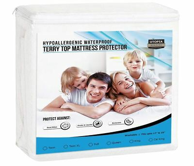 Best Waterproof Mattress Protector Fitted Matress Bed Cover Hypoallergenic